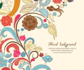Vintage Spring floral background 39