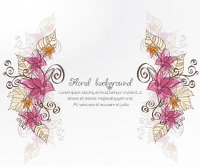 Vintage Spring floral background 42