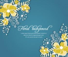 Vintage Spring floral background 43