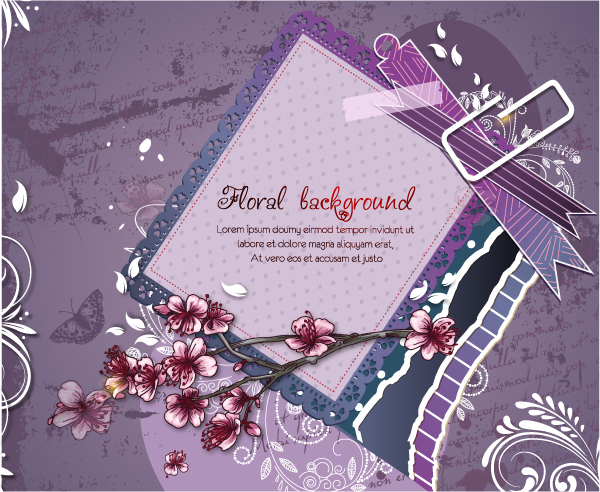 Vintage Spring floral background 44