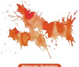 Watercolor illustration vector 01