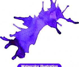Watercolor illustration vector 02