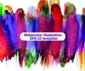 Watercolor illustration vector 03