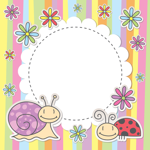 Cute Baby Backgrounds Vector 04 Free Download