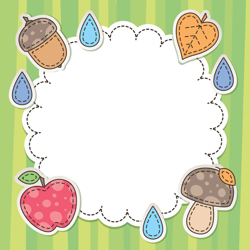 Cute baby backgrounds vector 05 - Vector Background free download