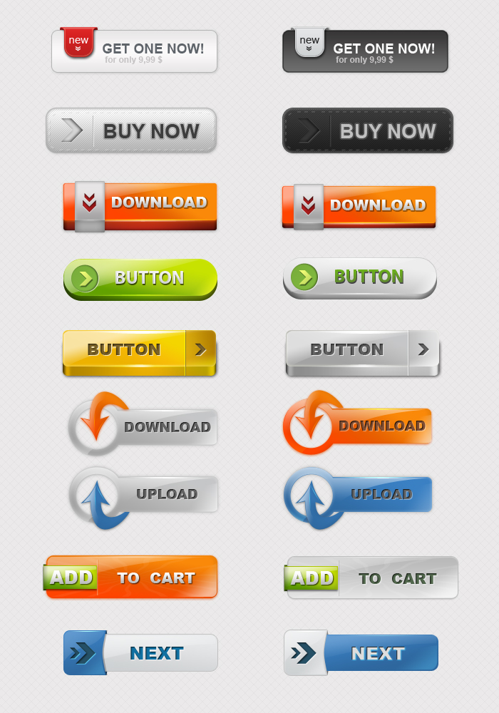 Web Colored Buttons 02
