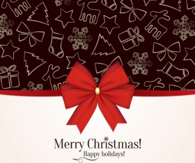 Beautiful christmas background set 01