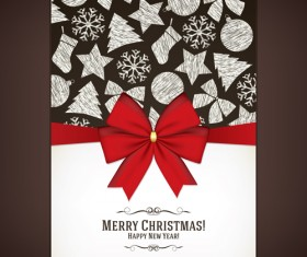 Beautiful christmas background set 04