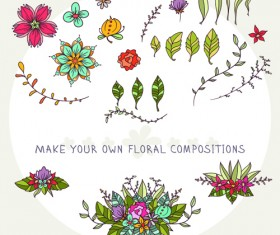 Flower decor illustration vector 01