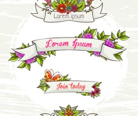Flower decor illustration vector 02