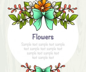 Flower decor illustration vector 03