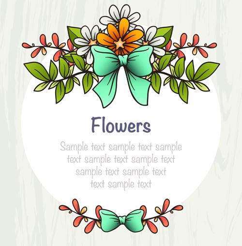 Flower decor illustration vector 03