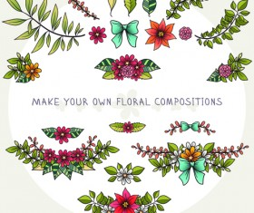 Flower decor illustration vector 04