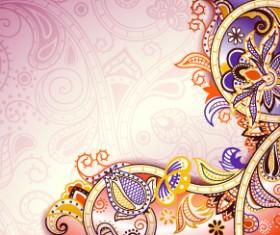 Floral decorative pattern background 02