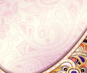 Floral decorative pattern background 03