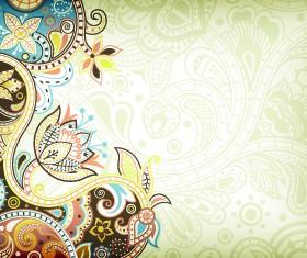 Floral decorative pattern background 06