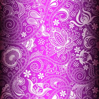 Floral decorative pattern background 07