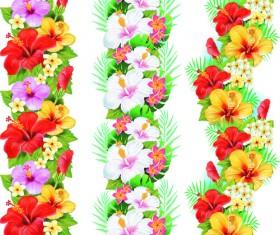 Flowers borders vector set 03