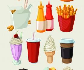 Set of food icons vectors 01