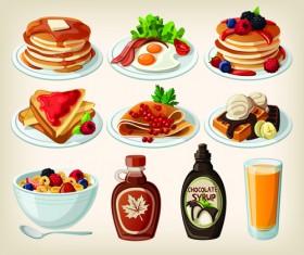 Set of food icons vectors 03