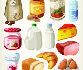 Set of food icons vectors 04