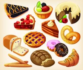 Set of food icons vectors 07