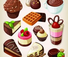 Set of food icons vectors 08