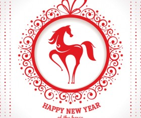2014 Horse New Year design vecotr 01