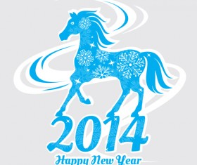 2014 Horse New Year design vecotr 02