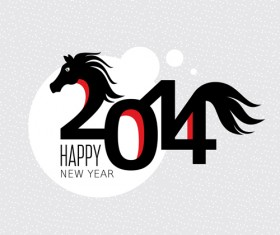 2014 Horse New Year design vecotr 03