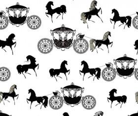 2014 Horses Seamless Patterns vector 03