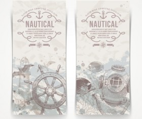 Hand drawn nautical objects vector 03