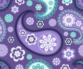 Ornate paisley pattern vector 03