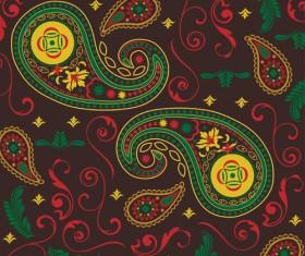 Ornate paisley pattern vector 04