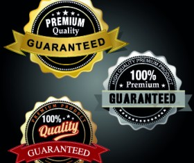 Vintage round premium quality label vector 02