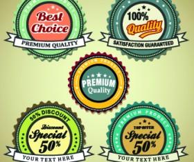 Vintage round premium quality label vector 05