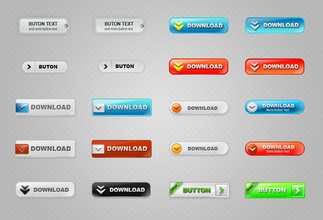 Web Colored Buttons 01