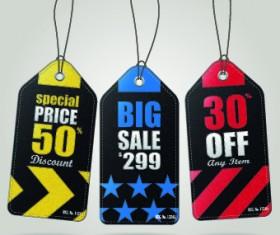Vintage cardboard sale tags vector 09