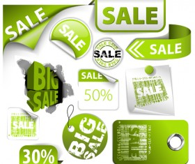 Sale stickers creative vector 01