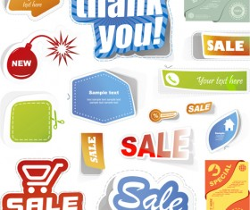 Sale stickers creative vector 04