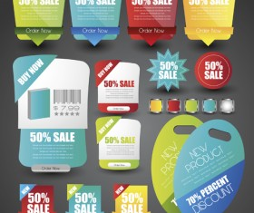Sale stickers creative vector 05