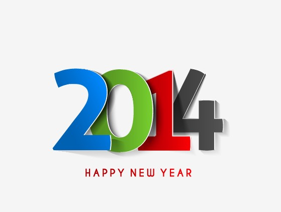 free eps file 2014 new year text design vector 01 download name 2014 ...