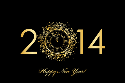 creative 2014 new year vector background set 07 free download