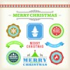 Vintage 2014 Christmas decoration and labels vector 01