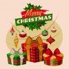 2014 Christmas vintage objects vector 02