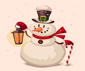 2014 Christmas vintage objects vector 06