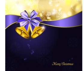 2014 Christmas ribbon and bell background 01
