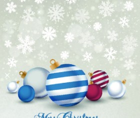 2014 Merry Christmas decor ball vector background 01