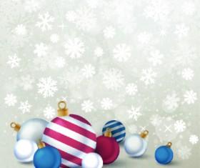 2014 Merry Christmas decor ball vector background 03