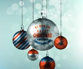 2014 Merry Christmas decor ball vector background 04